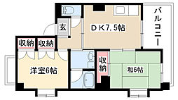 愛知県名古屋市昭和区福江1丁目の賃貸マンションの間取り