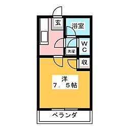 ニュードミール松本[1階]の間取り