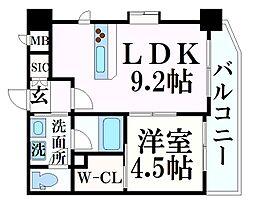 阪急神戸本線 春日野道駅 徒歩7分の賃貸マンション 7階1LDKの間取り
