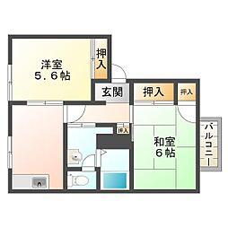 ディアス須磨山手[2階]の間取り