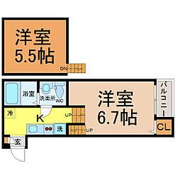 BlissHouse(ブリスハウス)[2階]の間取り
