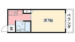 ジョイ武庫川[205号室]の間取り