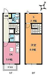 キューブ浅間台A[2階]の間取り