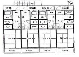第2田村荘[105号室]の間取り