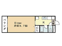 ハートフルマンション京田辺[1階]の間取り