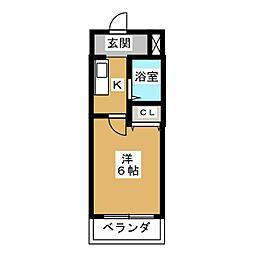 愛知県名古屋市南区呼続3丁目の賃貸マンションの間取り