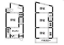 [テラスハウス] 大阪府堺市東区日置荘西町6丁 の賃貸【/】の間取り