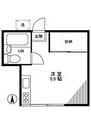 ハイツナカヤマ[1階]の間取り