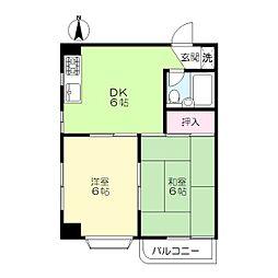 第二竹大ビル[4階]の間取り