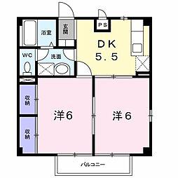 サンセール西澤(篠ノ井二ツ柳)[201号室号室]の間取り