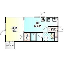 コーワ5[302号室]の間取り