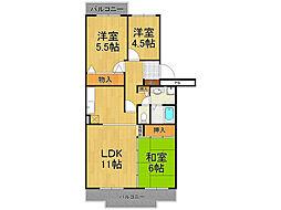 コンフォール広田[1階]の間取り