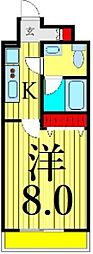 JR常磐線 南千住駅 徒歩6分の賃貸マンション 2階1Kの間取り