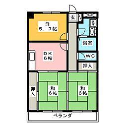 メゾンドユーメイク[3階]の間取り