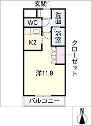 ガーデンヴィラTY・III[2階]の間取り