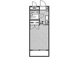リバーサイド澤井[3階]の間取り