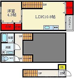 CASA Horizon Korien 3階1LDKの間取り