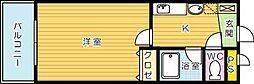 藤本ビルNo.21[303号室]の間取り
