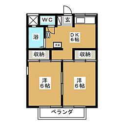 コーネルハウスE棟[2階]の間取り