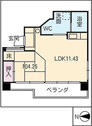 UD翔 羽島[3階]の間取り