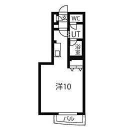 東洋ハイツA[3階]の間取り