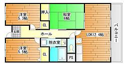 プレミール28[4階]の間取り
