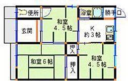 [テラスハウス] 兵庫県姫路市網干区垣内西町 の賃貸【/】の間取り