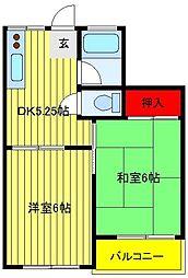 第2関東マンション[501号室]の間取り