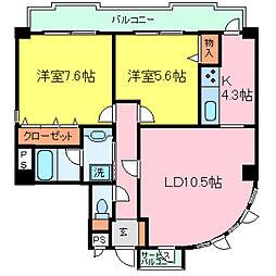 兵庫県神戸市東灘区鴨子ヶ原1丁目の賃貸マンションの間取り