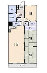 愛知県名古屋市瑞穂区彌富町字円山の賃貸マンションの間取り