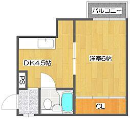 サニーハイツ[4階]の間取り