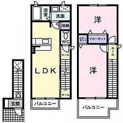 サンシャイン茨木1[2階]の間取り