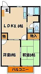 ロイヤルハイツ1[2階]の間取り