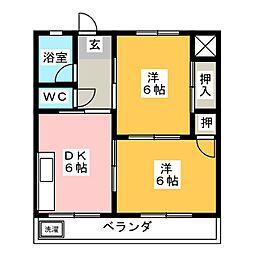 メゾン共栄[3階]の間取り
