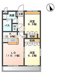 グランウッド雅[1階]の間取り