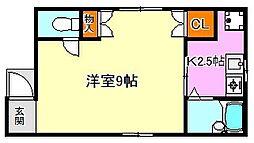 アシケンハイツ2[2階]の間取り