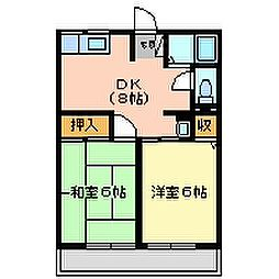 兵庫県尼崎市常光寺3丁目の賃貸アパートの間取り