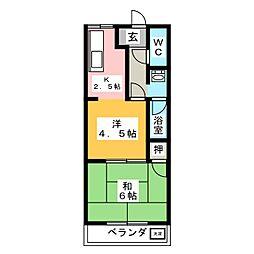 エスポアパンション佐藤II[2階]の間取り