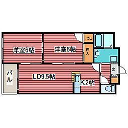 ロジュマン115[4階]の間取り