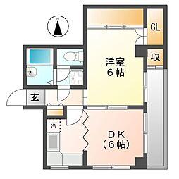 サンライズハイム 11b[2階]の間取り