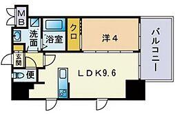サヴォイ ザ・セントラルガーデン 4階1LDKの間取り