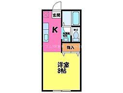 岡山県倉敷市福田町古新田丁目なしの賃貸アパートの間取り