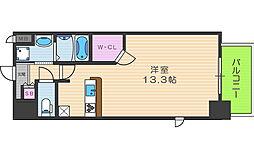 アーバンパーク梅田ウエスト 11階ワンルームの間取り