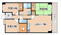 兵庫県神戸市西区竜が岡5丁目の賃貸マンションの間取り