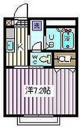 埼玉県さいたま市南区四谷1丁目の賃貸アパートの間取り