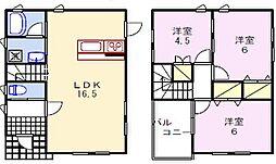 [タウンハウス] 兵庫県姫路市花田町勅旨 の賃貸【/】の間取り