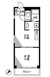 サンウッド六本木[3階]の間取り