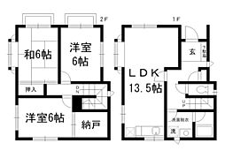 [一戸建] 東京都中野区若宮2丁目 の賃貸【/】の間取り