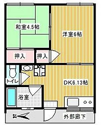 籾井荘[2階]の間取り