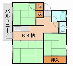 東那珂アパート[3階]の間取り